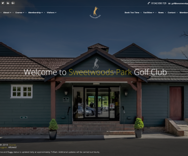 Sweetwoods Park Golf Club Website Launch
