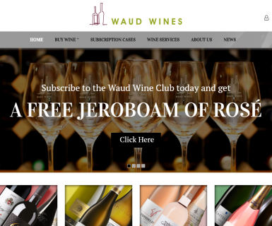 Waud Wines Website redesign