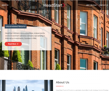 Headstart Website Launch
