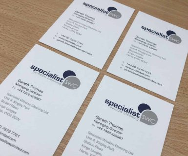 Specialist Window Cleaning Business Cards
