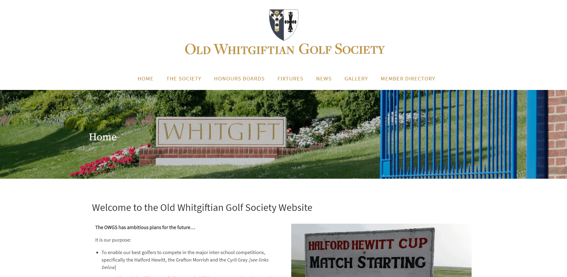 The Old Whitgiftian Golf Society Website